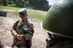Центра подготовки вооруженных сил страны Украины Стоковое фото RF