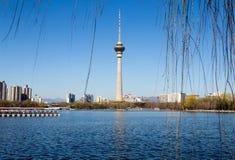 Центральная башня телевидения, Пекин, Китай Стоковое фото RF