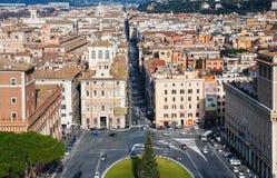 Центральная городская квадратная аркада Venezia в городе Рима Стоковые Фотографии RF