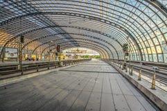 Центральная железнодорожная станция в Берлине стоковая фотография rf