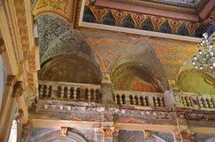 Центральная зала - австрийские имперские ванны - Herculane Стоковые Фотографии RF
