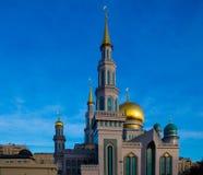 Центральная мечеть собора в Москве Россия Стоковые Изображения