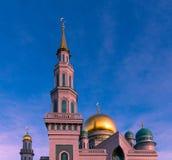 Центральная мечеть собора в Москве Россия Стоковая Фотография RF