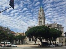 Центральная площадь Порту стоковое изображение