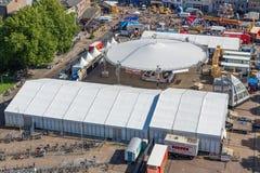 Центральная площадь Emmeloord с аграрным фестивалем картошки, Нидерланды стоковое изображение rf