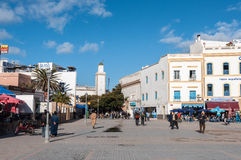 Центральная площадь Essaouira, Марокко Стоковые Фотографии RF