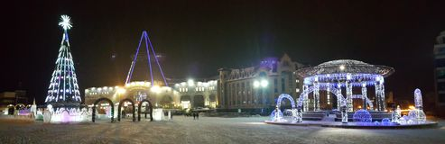 Центральная площадь Khanty-Mansiysk Стоковое фото RF