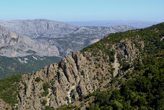 Центральная Сардиния. Ландшафт Supramonte Стоковая Фотография