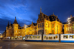 Центральная станция Амстердама Стоковая Фотография RF