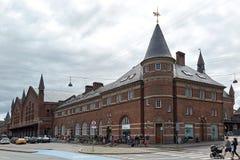 Центральная станция Копенгагена, Дания Стоковая Фотография RF