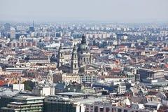 Панорама Будапешт. Взгляд от верхней части Стоковая Фотография RF