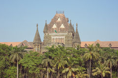 Центральная часть высшего суда Мумбая стоковая фотография