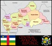 Центрально-африканские административные округа Rep иллюстрация штока