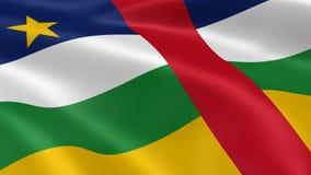 Центрально-африканский флаг в ветре иллюстрация штока