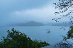 центральные восхитительные горы луны озера устанавливают солнце taiwan остальных релаксации поистине Стоковые Изображения RF