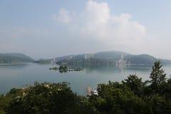 центральные восхитительные горы луны озера устанавливают солнце taiwan остальных релаксации поистине Стоковые Фото