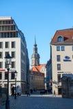 Центральные улицы в старом городке стоковая фотография rf