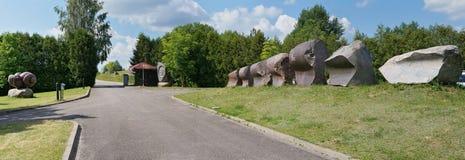 Центральный вход в парк каменных скульптур Стоковое Изображение