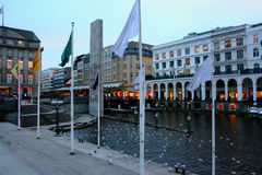 Центральный Гамбург, Германия Стоковые Фотографии RF