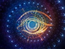 Центральный глаз иллюстрация вектора