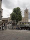 Центральный железнодорожный вокзал в Штутгарте, Германии Стоковые Фотографии RF