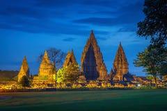центральный индусский висок yogyakarta Индонесии java prambanan Индонезия Стоковое фото RF