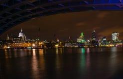 Центральный Лондон на ноче Стоковое Изображение