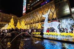 Центральный мир освещает вверх, Бангкок Стоковые Фото