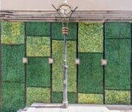 Централь Гонконг Soho дизайна входа дверей стены стены травы Стоковое Изображение