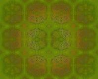 Центризованное золото безшовной картины прованское зеленое Стоковое Изображение