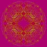 Центризованный желтый цвет безшовного круглого орнамента фиолетовый Стоковое Фото