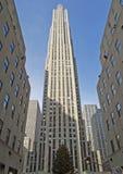 центризуйте новую площадь Рокефеллер york Стоковые Фотографии RF