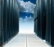 Центр данных на облаке стоковые изображения rf