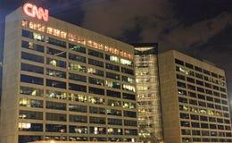 Центр Атланта CNN на ноче Стоковые Фотографии RF