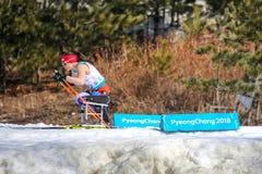 Центр биатлона Pyeongchang 2018 14-ое марта - в вездеходном s стоковые изображения