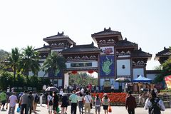 Центр буддизма Nanshan Китая стоковые изображения rf