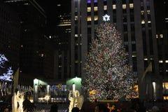 Центр во время рождества - Нью-Йорк Рокефеллер Стоковое Изображение