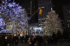 Центр во время рождества - Нью-Йорк Рокефеллер Стоковое Изображение RF