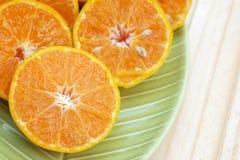 Центр (выбранный фокус) оранжевой половины которая на левой стороне под si Стоковые Изображения
