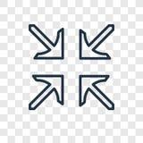 Центр выравнивает значок вектора концепции линейный изолированный на прозрачном иллюстрация вектора