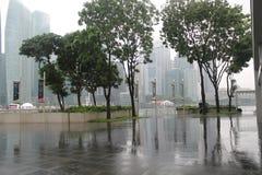 Центр города в Сингапуре Предпосылка города с зданиями Финансовый центр городка Стоковые Фотографии RF