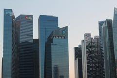 Центр города в Сингапуре Предпосылка города с зданиями Финансовый центр городка Стоковое фото RF