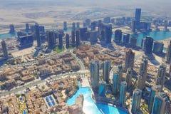 Центр города Дубай сверху Стоковые Изображения RF