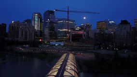 Центр города Калгари, Альберты, Канады сток-видео