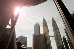 Центр города Куалаа-Лумпур, Малайзия Стоковое Изображение RF