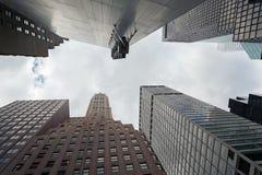 Центр города Манхаттан Нью-Йорк небоскребов, Соединенные Штаты стоковое изображение