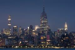 Центр города Манхаттан от Джерси II стоковое фото rf