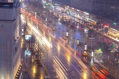 Центр города Москвы на ноче стоковые фото