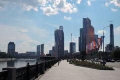 Центр города Москвы Examle современной архитектуры Москвы Стоковое Фото