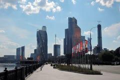 Центр города Москвы Examle современной архитектуры Москвы Стоковые Изображения RF